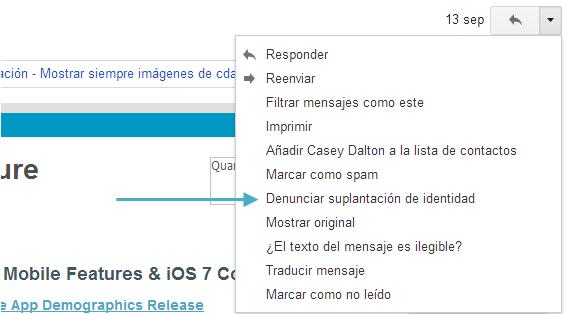 Gmail - suplantacion