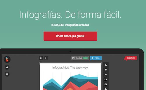 Infogram crear infografías gratis