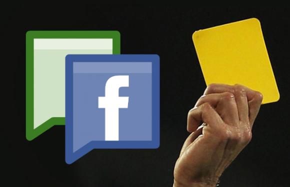 Páginas de Facebook: Tarjeta amarilla